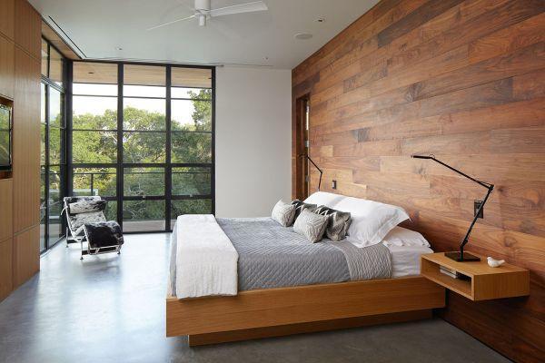 Mẫu cửa nhôm kết hợp vách kính phòng ngủ