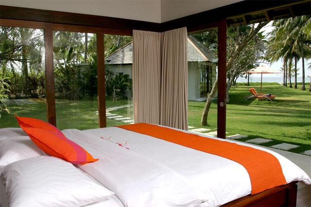 Không gian phòng ngủ khu nghỉ dưỡng
