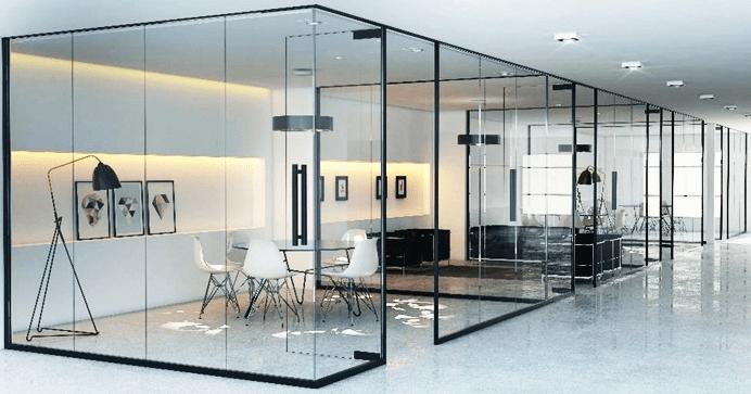 vach ngan tuong kinh giai phap toi uu cho khong gian van phong nho - Vách ngăn, tường kính giải pháp tối ưu cho không gian văn phòng nhỏ