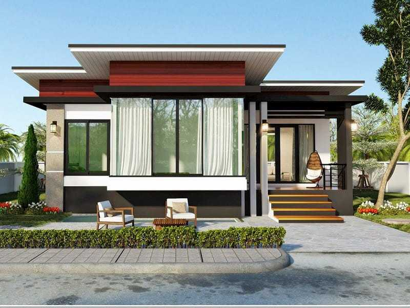 mau nha dep 2020 3 - Mẫu nhà đẹp năm 2020 với cửa nhôm kính xu hướng cửa hiện đại