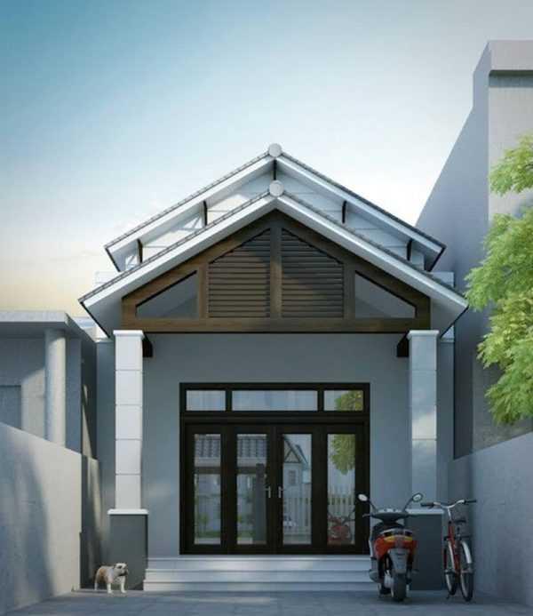 mau nha ong 2 tang dep 7 600x693 - Ngỡ ngàng những mẫu nhà ống đẹp 2020 được thiết kế theo kiến trúc mới với cửa nhôm kính