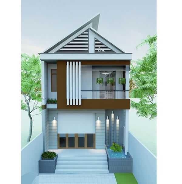 mau nha ong 2 tang dep 9 - Ngỡ ngàng những mẫu nhà ống đẹp 2020 được thiết kế theo kiến trúc mới với cửa nhôm kính